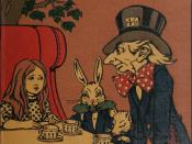 English: The cover of Alice's Adventures in Wonderland, written by Lewis Carroll and illustrated by Charles Robinson.