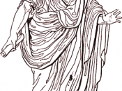 The toga was the characteristic garment of the Roman citizen