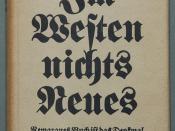 Remarque, Erich Maria: Im Westen nichts Neues. Roman. Berlin: Propyläen 1929, 287 Seiten. Erstdruck mit Original-Verlagsumschlag (Wilpert/Gühring² 3)