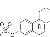 chemical structure of the sodium salt of equilin sulfate, one of the constituents of premarin