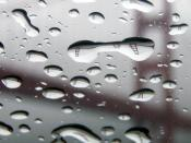 English: The Golden Gate Bridge refracted in rain drops acting as lenses.