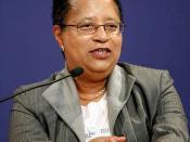 Shirley Ann Jackson, President, Rensselaer Polytechnic Institute (RPI), speaks during the