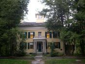 Photo of the Dickinson Homestead taken in October of 2004