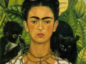 Frida Kahlo, Self-Portrait, 1940. See discussion of her works below.