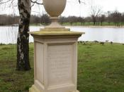 English: Queen Caroline's Memorial, Hyde Park Queen Caroline was a keen gardener, and is responsible for the Serpentine. More info: http://www.royalparks.org.uk/parks/hyde_park/landscape_history.cfm