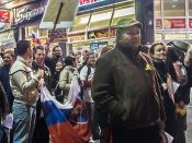 Rally against Political Corruption In Slovakia: People At Home Have No More Bananas (money) For Gorillas (corrupted politicians)