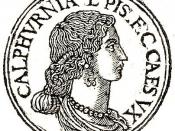 English: Calpurnia Pisonis was a daughter of Lucius Calpurnius Piso Caesoninus, was a Roman woman, third and last wife of Julius Caesar.