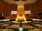 English: United Nations General Assembly hall in New York City.