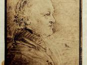 William Blake's portrait in profile, added later to Songs of Innocence and Experience. (The note at the bottom of the page is dated 1863).