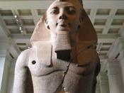 The 'Younger Memnon' statue of Ramesses II in the British Museum thought to have inspired the poem