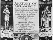 Frontispiece for the 1638 edition of The Anatomy of Melancholy.