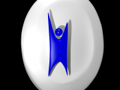 English: Happy human, a secular humanist logo made in blender quick. Some edges could be cleaner..