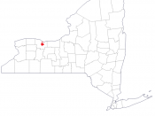 English: Map highlighting the city limits of Rochester, New York