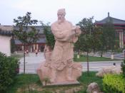 A statue of Lu Yu located in Xi'an