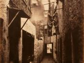 English: Slum in Glasgow, 1871