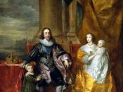 Charles I and his wife Henrietta Maria with their eldest children: Charles, Prince of Wales (Charles II) next to his father and James, Duke of York (James II) next to her mother.