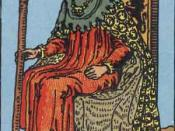 King of Wands from the Rider-Waite Tarot deck