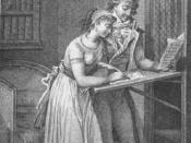 Illustration pour le roman de Pierre Choderlos de Laclos' Les Liaisons dangereuses Lettre 115 Valmont dictant une lettre à Cécile pour Danceny