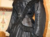 Mourning dress, circa 1867 Museum of Funeral Customs