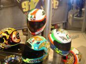 Valentino Rossi's AGV helmets