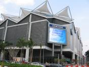 Exterior façade of Suntec Singapore International Convention and Exhibition Centre.