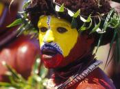 English: Huli Wigman from the Southern Highlands of Papua New Guinea. Не ешьте его
