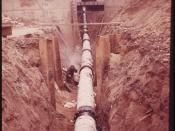 Pipes Are Laid at the New Water Pollution Control Plant on Jamaica Bay 05/1973