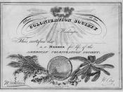 Member certificate of the American Colonization Society, ca. 1840