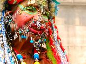 English: Front shot of Elaine Davidson, the most pierced woman in the world, according the Guiness Book of World Records.