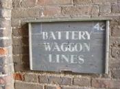 Houghton Hall - Stable Square - sign - Battery Waggon Lines