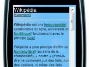 screenshot of http://fr.wap.wikipedia.org/