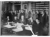 Signing Peace Treaties, Washington  (LOC)