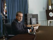 Nixon announces the release of edited transcripts of the Watergate tapes, April 29, 1974.