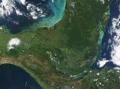 The Yucatán peninsula as seen from space