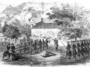Elements of the First Light Division participated in the suppression of John Brown's raid on Harpers Ferry, 1859.