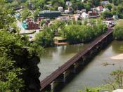 English: Harpers Ferry, West Virginia, USA. This is a view of the historic town from Maryland Heights.