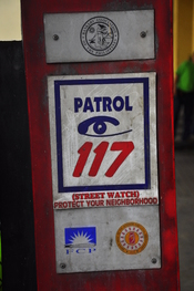 Patrol 117 sign in Manila, Philippines