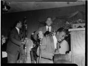 [Portrait of Wesley Prince, Oscar Moore, and Nat King Cole, Zanzibar, New York, N.Y., ca. July 1946] (LOC)