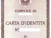 Italian identity card Français : Carte d'identité italienne