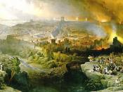 The Siege and Destruction of Jerusalem by the Romans Under the Command of Titus, A.D. 70, Oil on canvas, 1850
