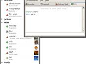 Screenshot of the free instant messenger gossip.