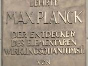 Planck's plaque at Humboldt University, Berlin. English translation:
