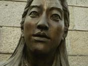 A bronze statue of Iris Chang, author of The Rape of Nanking. It is exhibited in Nanjing Massacre Memorial Hall in Nanjing, Jiangsu Province, China. Note: This picture is under Freedom of panorama. For more information about the statue, see this http://ch