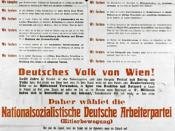 NSDAP election poster in Vienna in 1930. Translation: