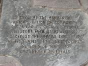 Dido Cemetery marker base closeup