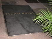 Tycho Brahe's grave in Prague, new tomb stone from 1901