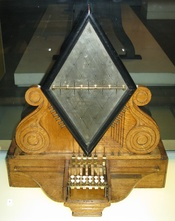 English: Photo of a William Fothergill Cooke and Charles Wheatstone's electric Telegraph from 1837 now in th london science museam