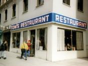 Tom's Restaurant, a diner at 112th Street and Broadway, in Manhattan, was used as the exterior image of Monk's Cafe in the show.