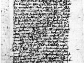 English: First page of the description of the play Macbeth that Simon Forman saw in 1611.