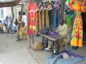 A tailor in Chad